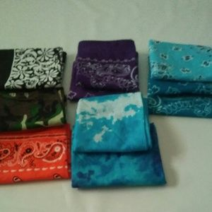 10 bandanas multiple colors